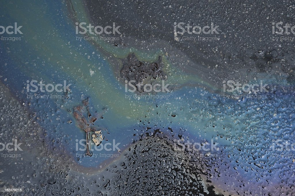 Oil slick royalty-free stock photo