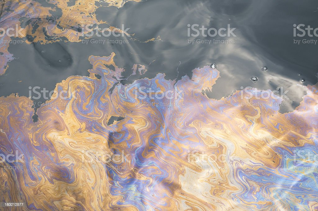 Oil slick stock photo