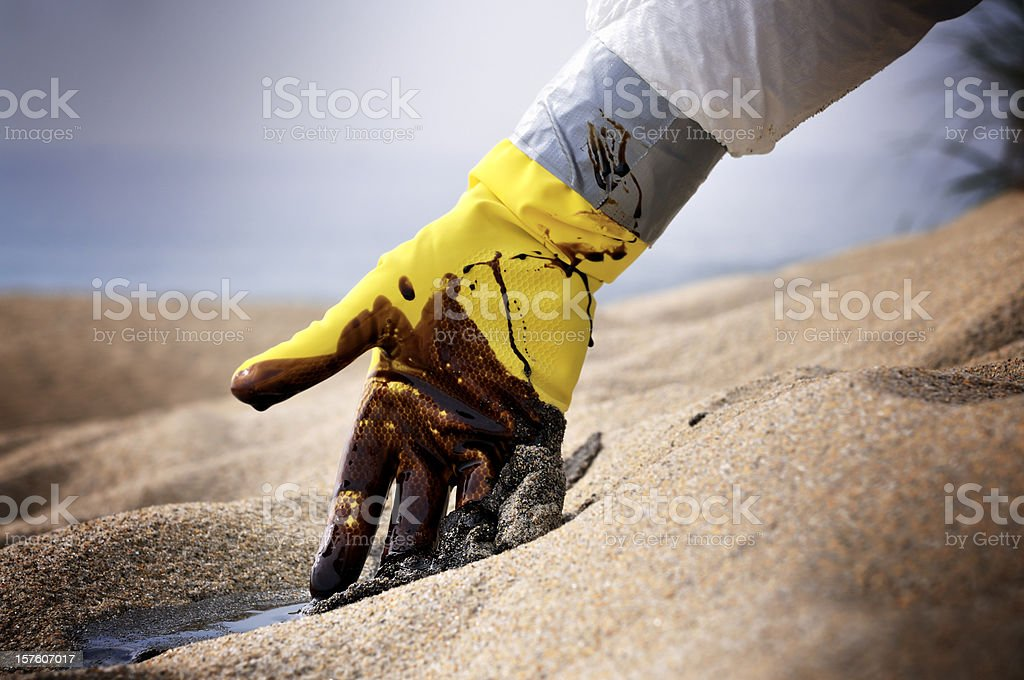 Oil Spill: A Situation Beyond Control royalty-free stock photo