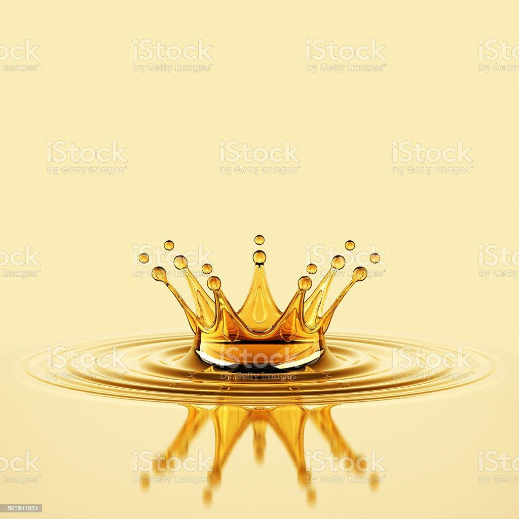 Oil Splash Crown stock photo