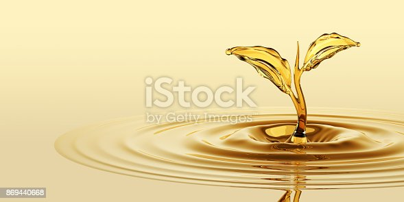 869441068 istock photo Oil Sprout Splash 869440668