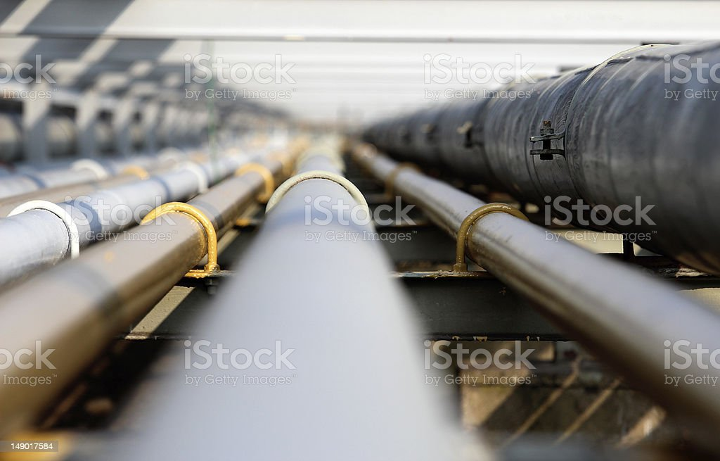 oil steel pipe in group stock photo