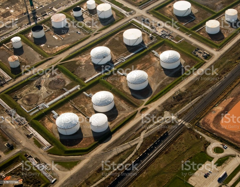 Oil Storage Facility, Aerial View royalty-free stock photo
