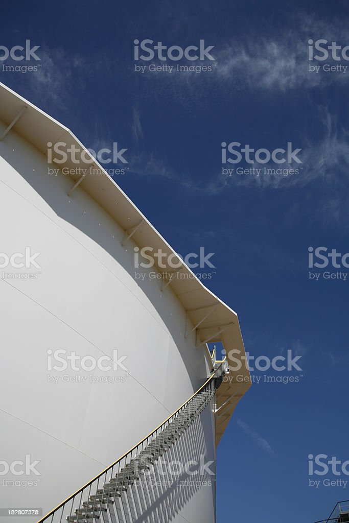 Oil Storage Tank With Really Blue Sky stock photo