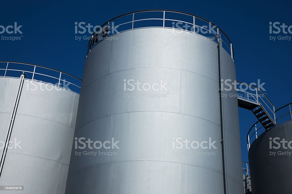 Oil Storage Tanks at Fuel Depot royalty-free stock photo