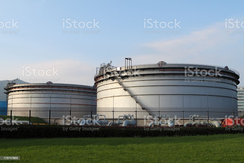 Oil Storage Tanks Stock Photo - Download Image Now