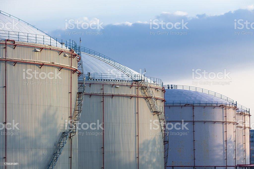 Oil Storage tanks royalty-free stock photo