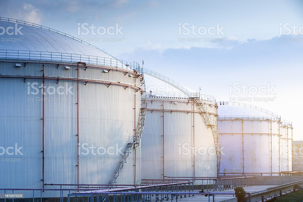 Oil Storage Tanks Stock Photo - Download Image Now - iStock