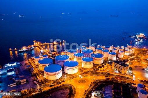 Oil tank in Hong Kong, China