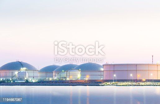 Oil and natural gas storage tanks in the petroleum industry