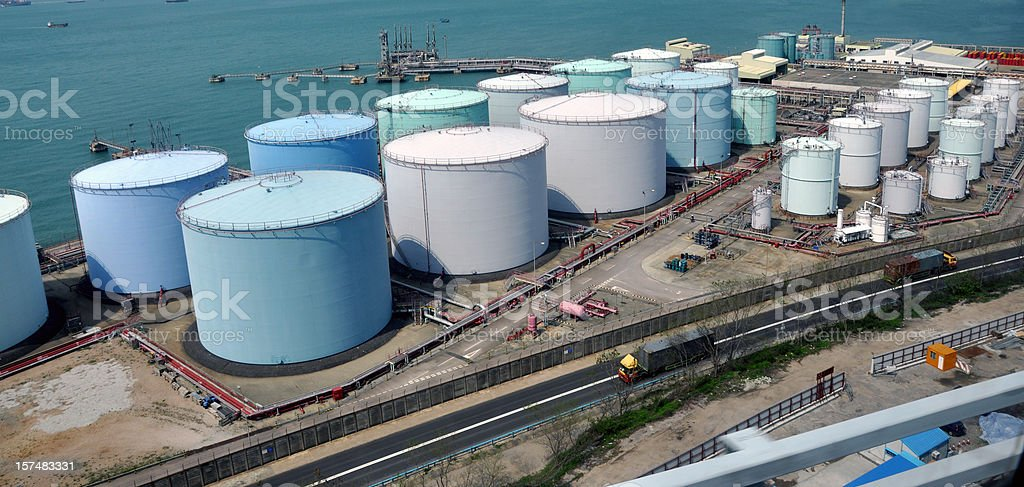 Oil Tank / Refinery Factory or Industry stock photo