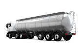Oil Tank Truck isolated on white background. 3D render