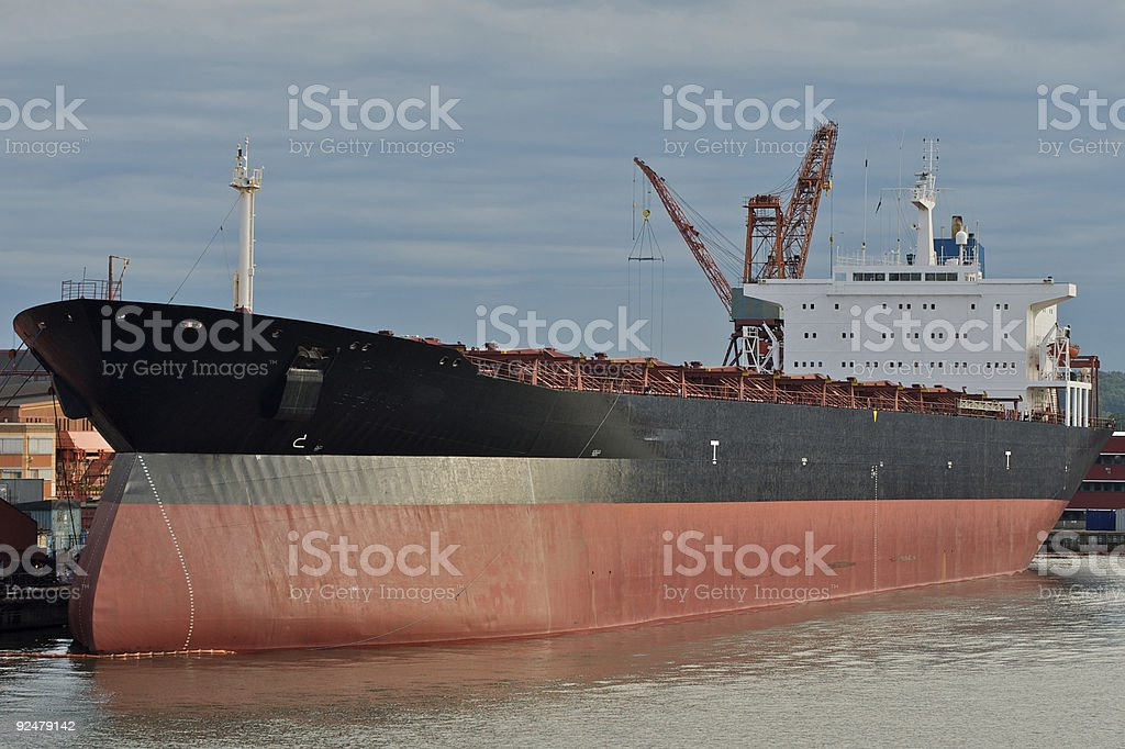 oil tanker at dawn royalty-free stock photo