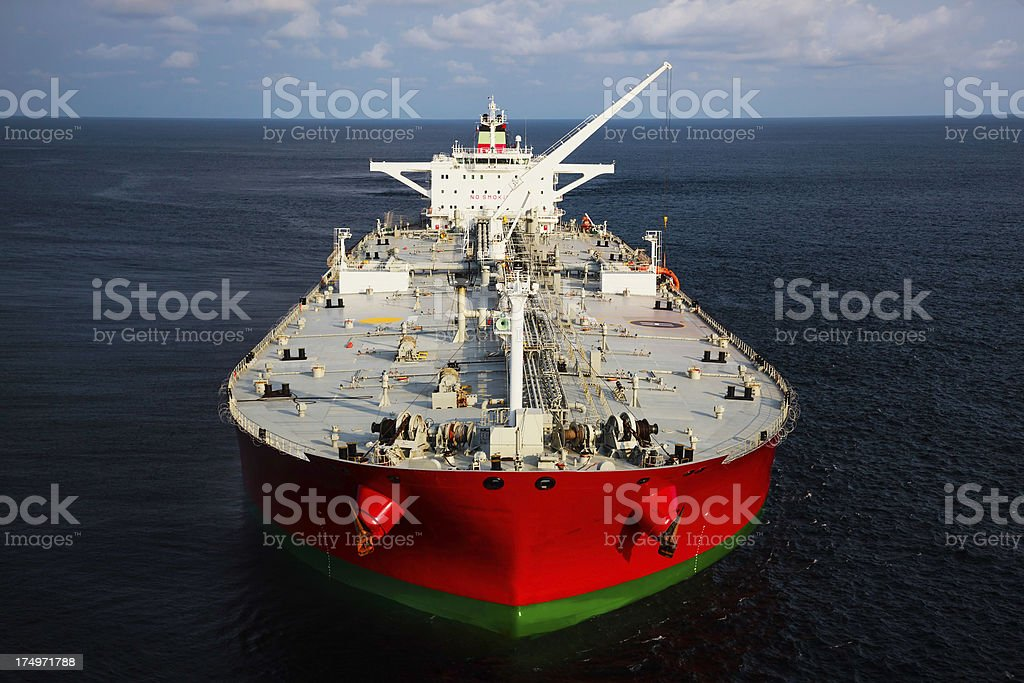 Oil Tanker at Sea stock photo