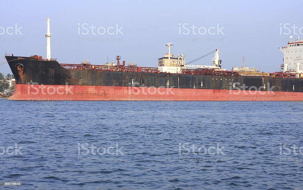 oil tanker at sea royalty-free stock photo