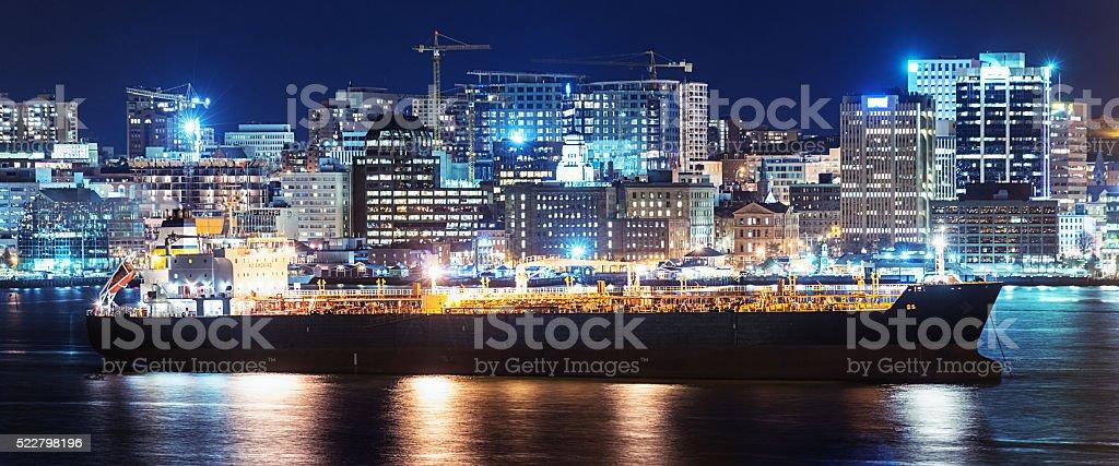 Oil Tanker in Halifax stock photo