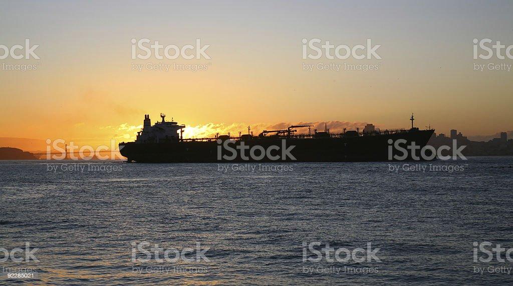 Oil Tanker in San Francisco Bay, California, California royalty-free stock photo