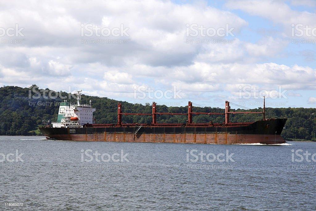 Oil Tanker on the Hudson royalty-free stock photo