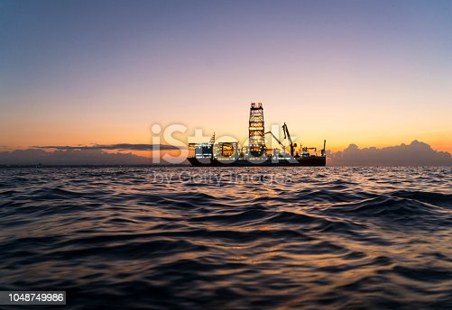 Oil Tanker in Mediterranean Sea, Antalya, Turkey