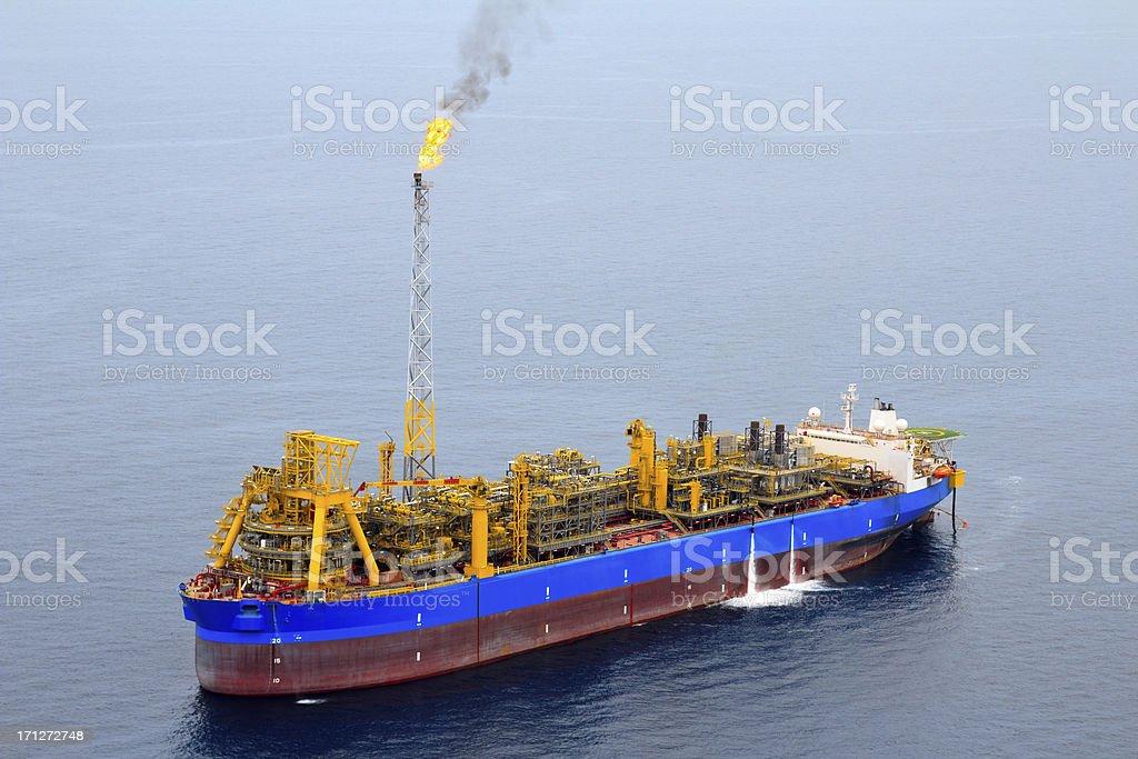 FPSO Oil Tanker royalty-free stock photo