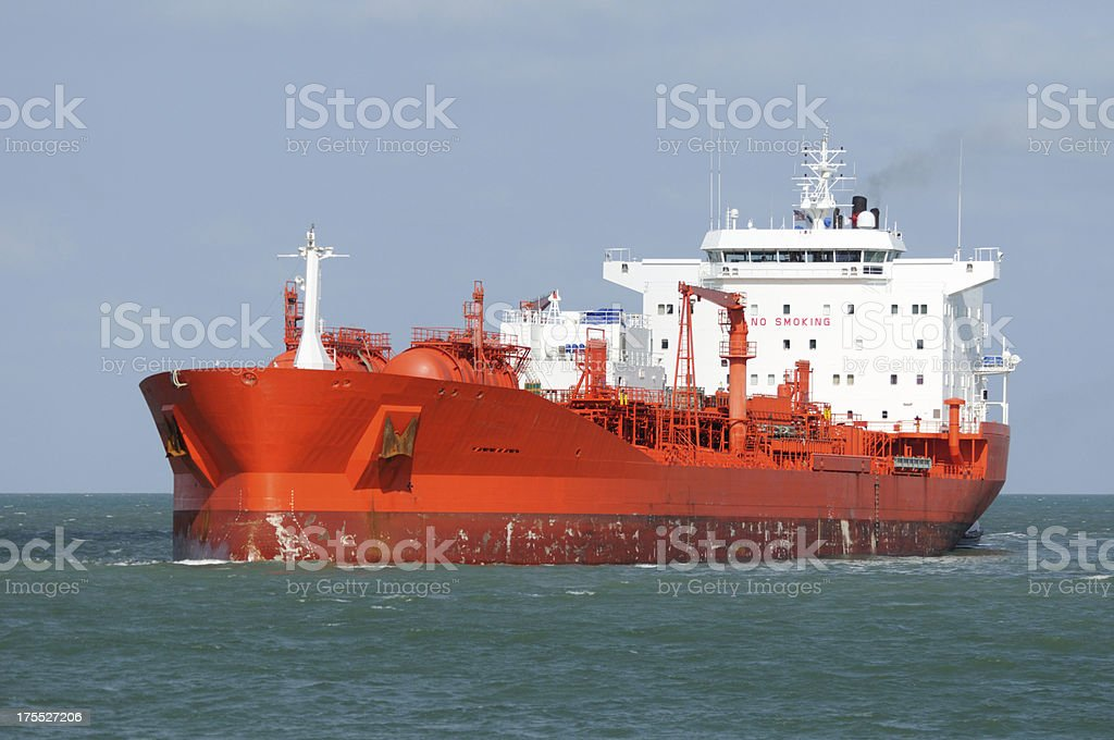 Oil Tanker Ship Approaching royalty-free stock photo