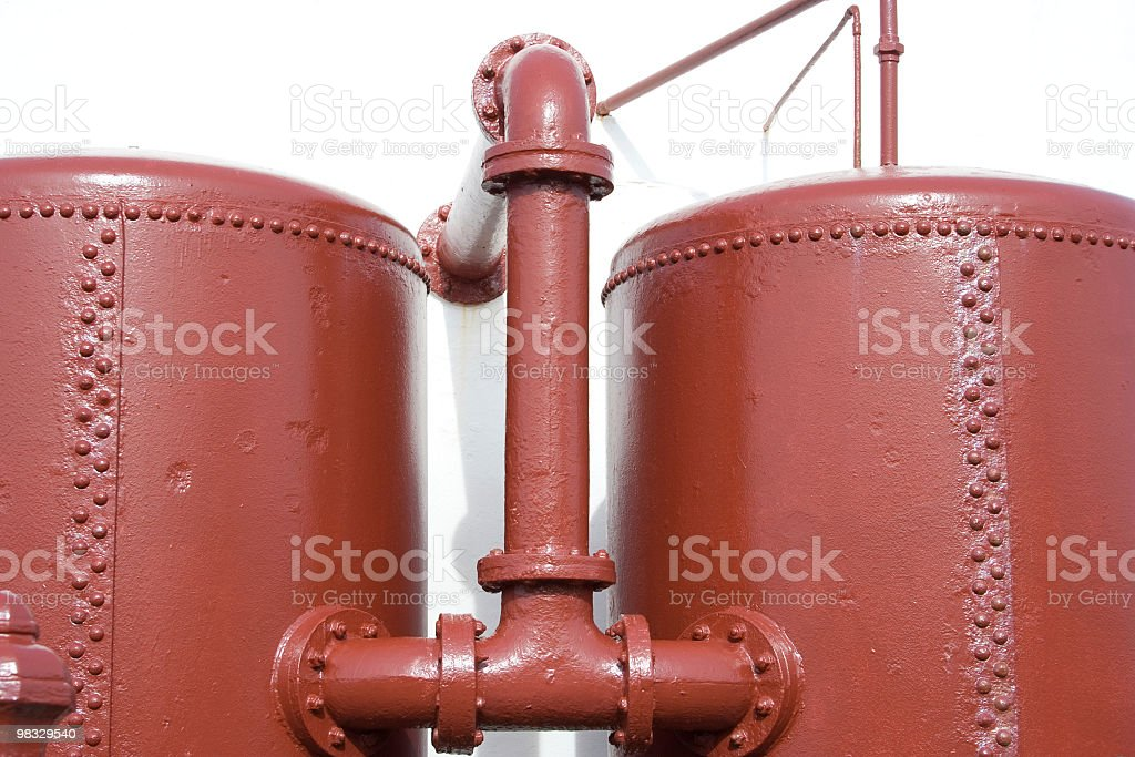 Oil tanks and pipes royalty-free stock photo