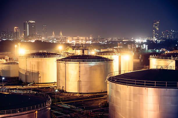 oil tanks stock photo