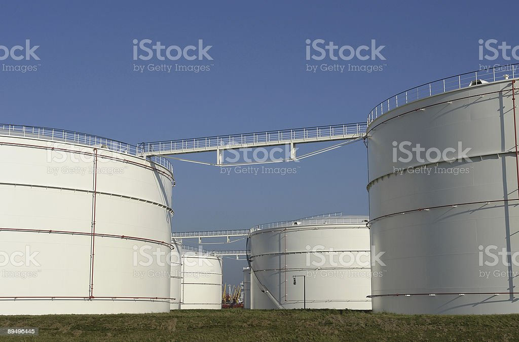 Oil tanks royalty free stockfoto