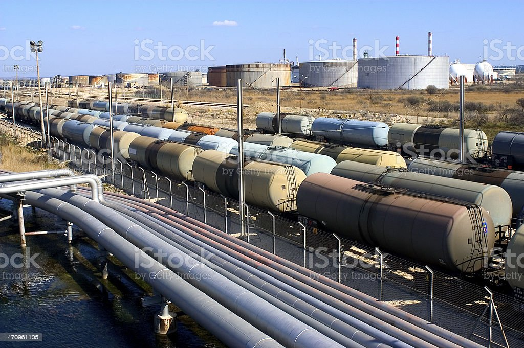 oil trains stock photo