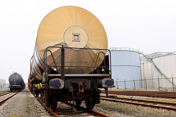 Olio trasporto ferroviario - foto stock