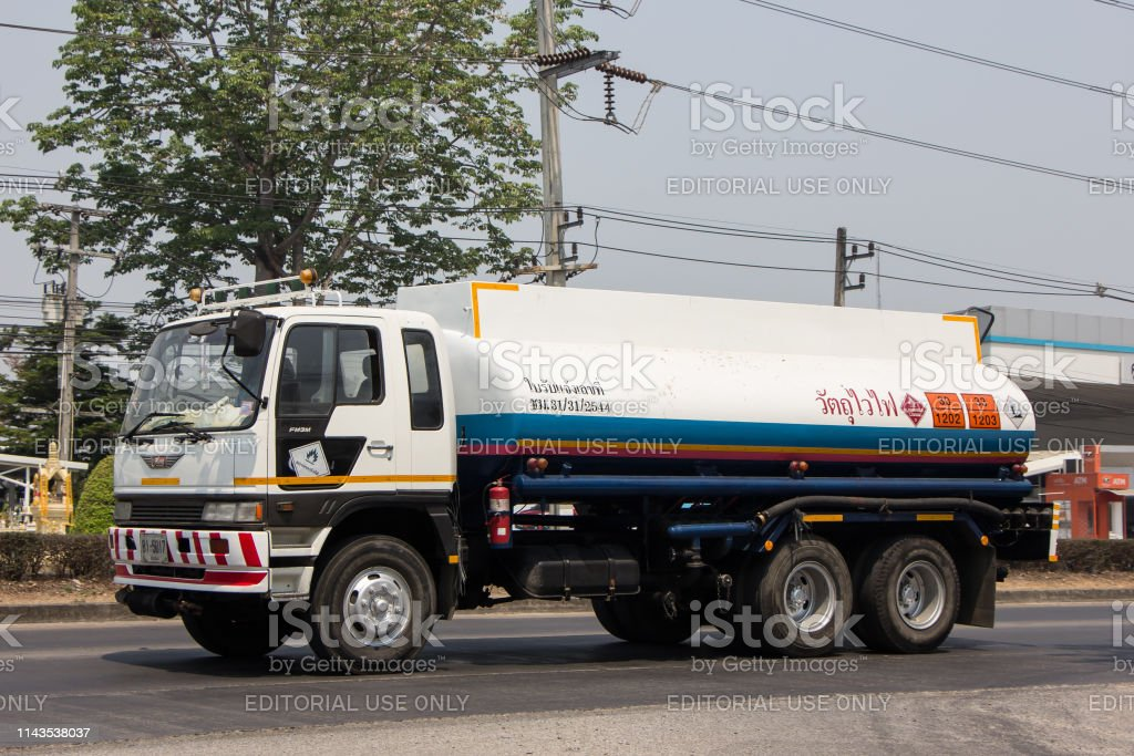 Oil Truck of Boon ThaWee Maeram Oil transport Company. On Truck on...