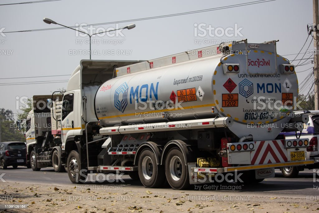 Oil Truck of Mon Oil transport Company. On Truck on road no.1001, 8...