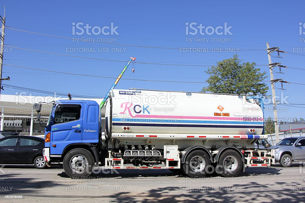 Oil Truck of RCK Oil transport Company. Photo at road no.1001 about 8...