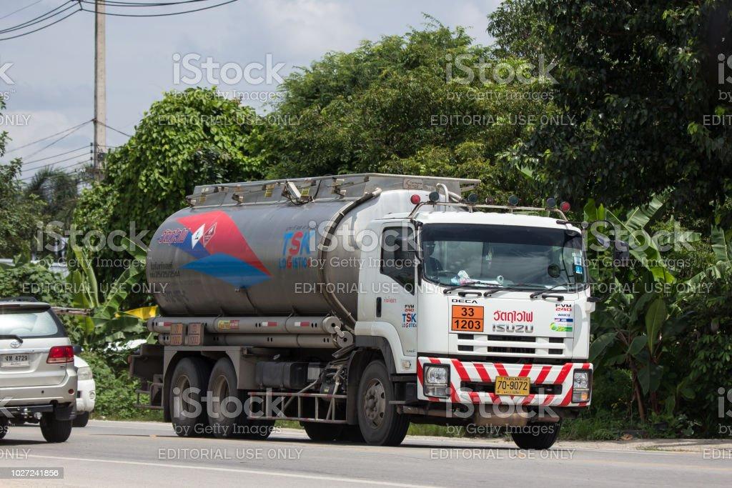 Oil Truck of TSK Oil transport Company. On Truck on road no.1001, 8...