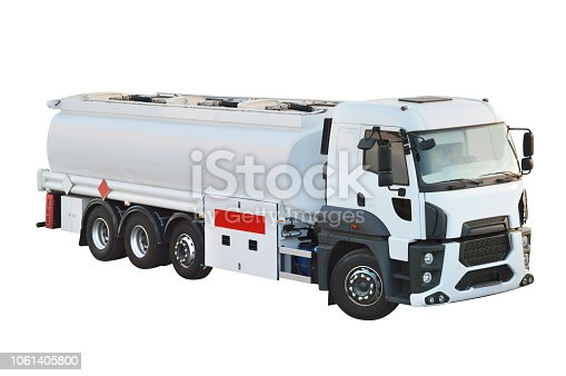Oil truck tanker with clipping path