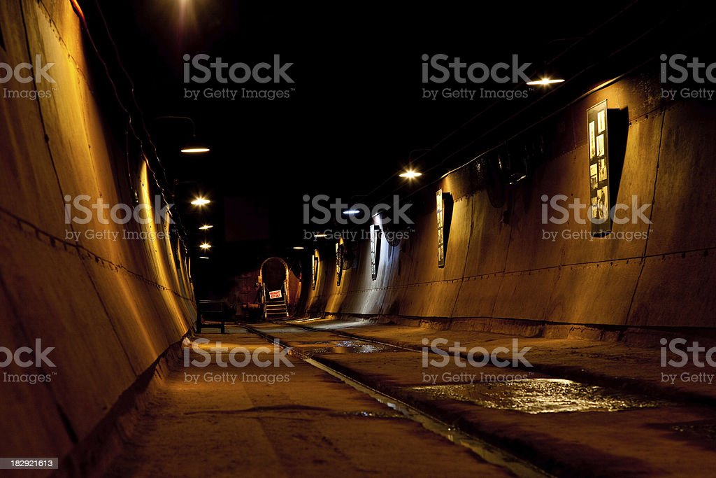 Oil Tunnels Tourism Darwin Northern Territory stock photo