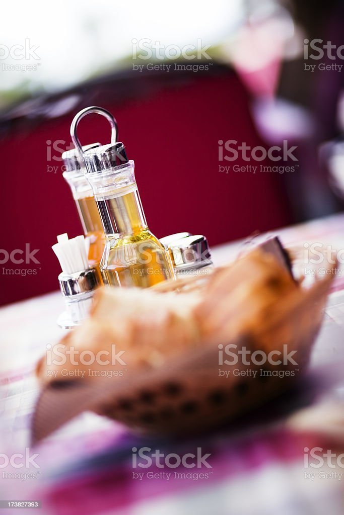 Oil vinegar spice set royalty-free stock photo