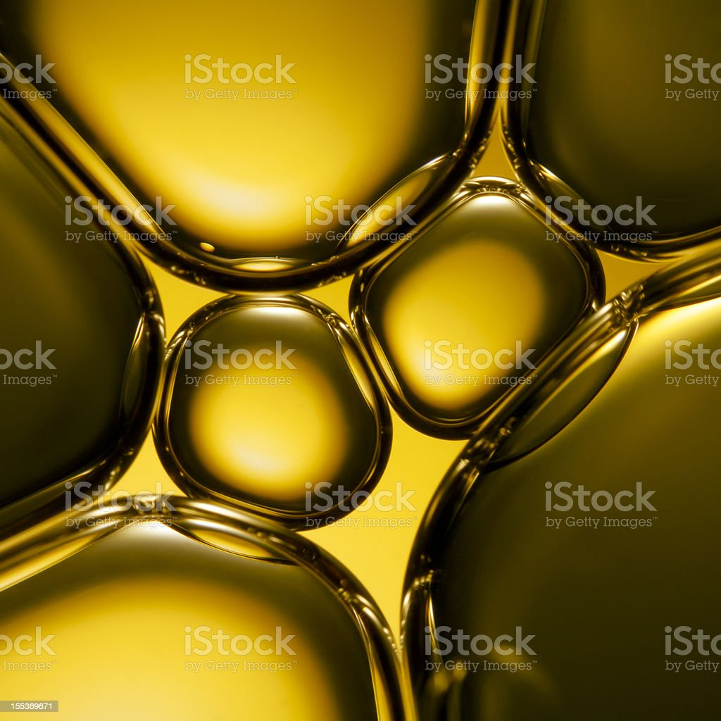 Oil & Water - Abstract Green Macro Background royalty-free stock photo