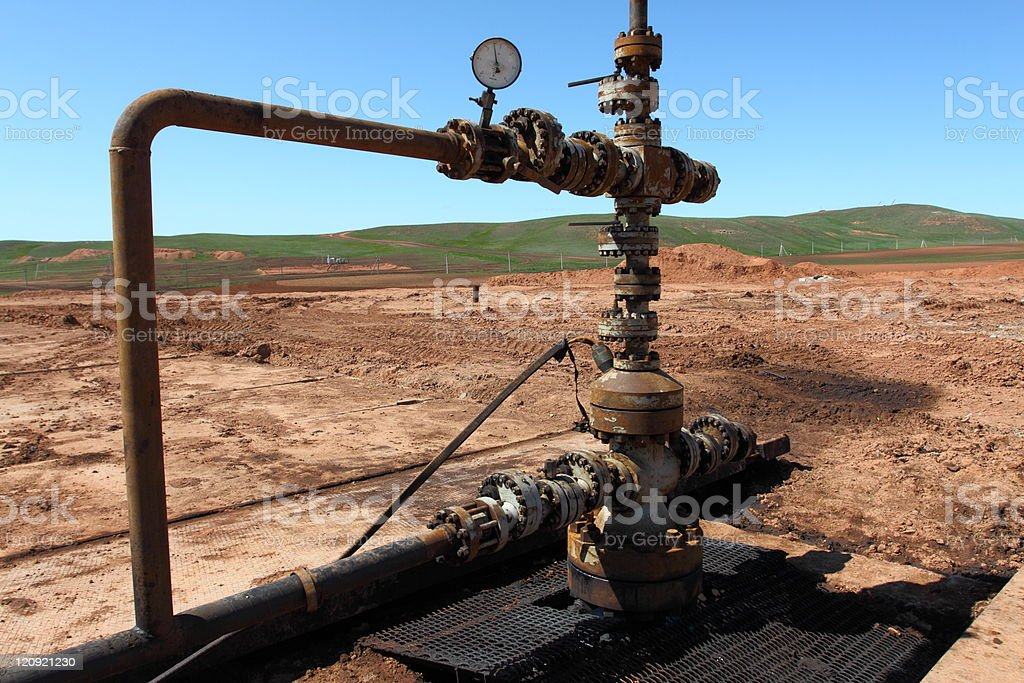 Oil well head royalty-free stock photo