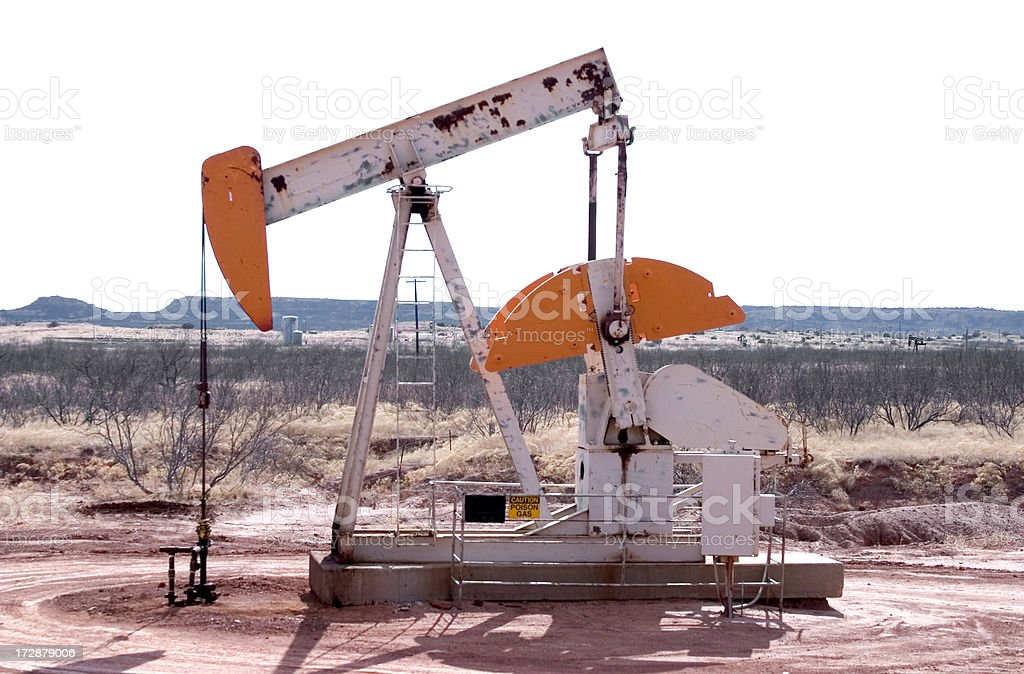 Oil Well Pump royalty-free stock photo