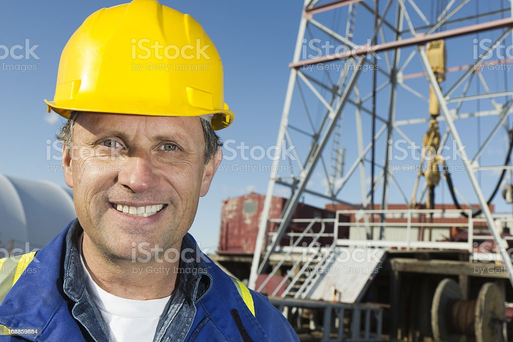 Oil Well Worker royalty-free stock photo