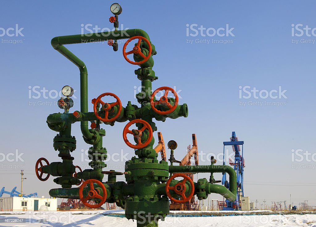 Oil Wellhead royalty-free stock photo