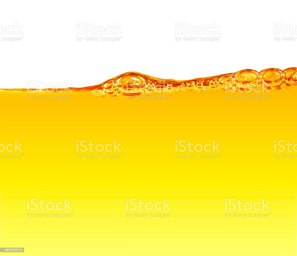Oil with air bubbles stock photo