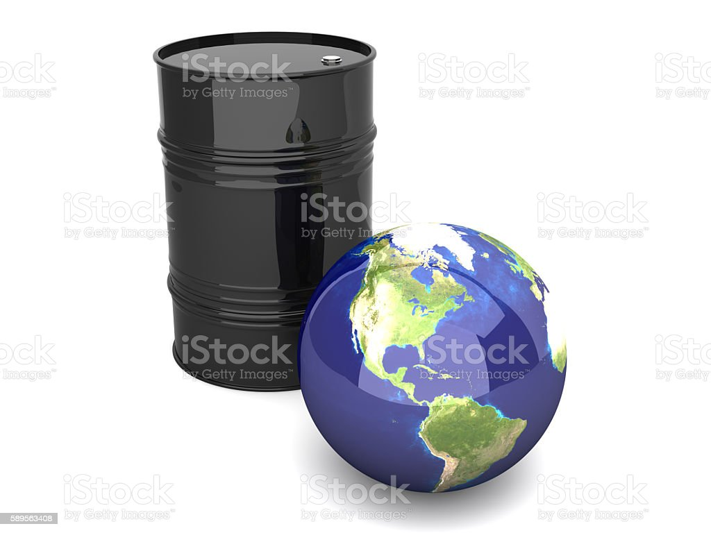 Oil World - America stock photo