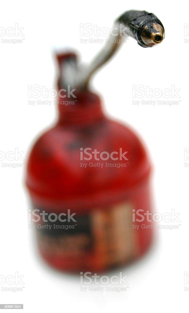 Oilcan spout stock photo
