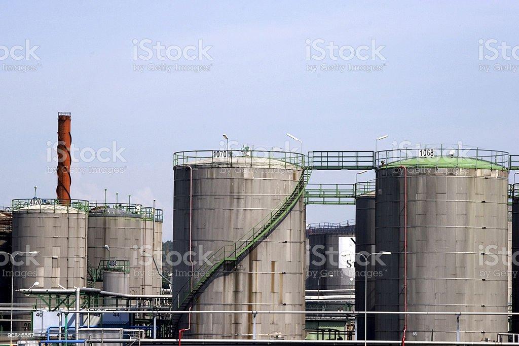 Oilcisterns stock photo
