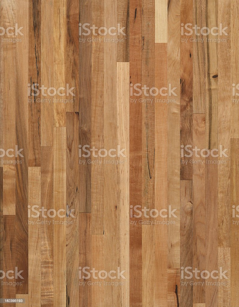 Oiled Maple Butcher Block wood grain background royalty-free stock photo