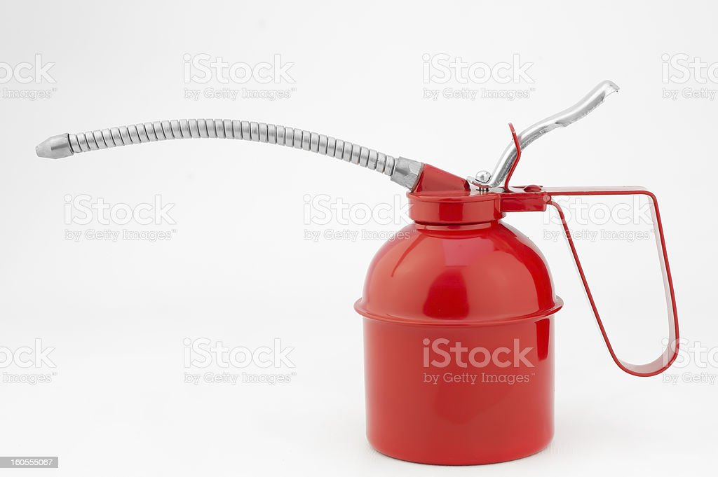 Oiler, oil can - grease gun painted steel royalty-free stock photo