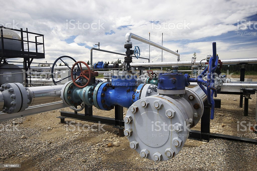 Oilfield - Flange stock photo