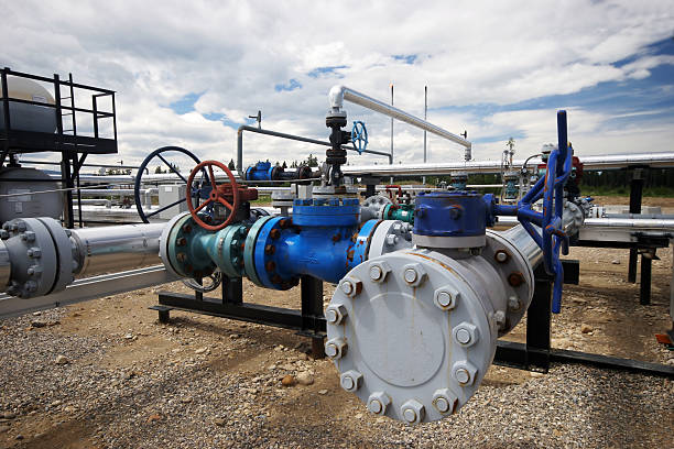 oilfield-rand - luftventil stock-fotos und bilder